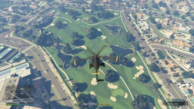 Вертолет в GTA Online (миссия Death From Above)